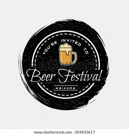 beer festival badges logos and...