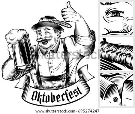 beer festival oktoberfest. man...