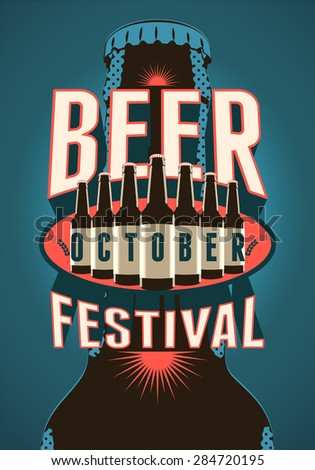 beer festival vintage style
