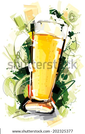 Beer Glass Art