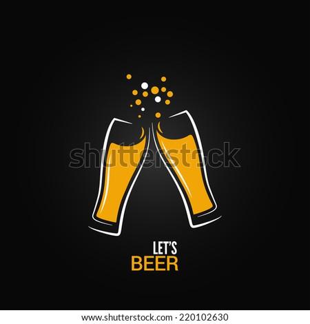beer glass drink splash design