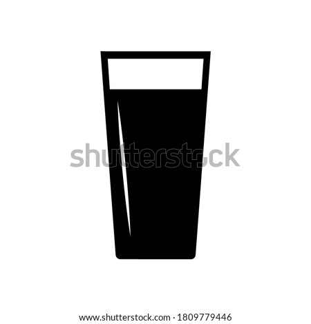 Beer glass icon, hop logo isolated on white background Stock photo ©