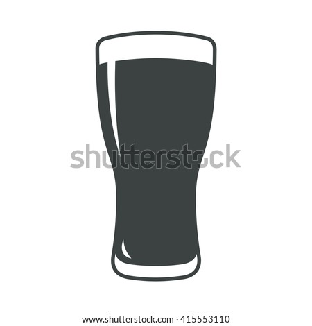 Beer glass icon iweb sign symbol logo label
