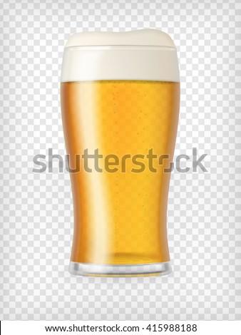 beer glass realistic mug with