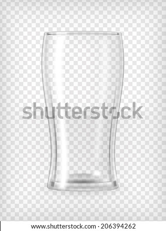Beer glass. Transparent vector illustration. Stock photo ©