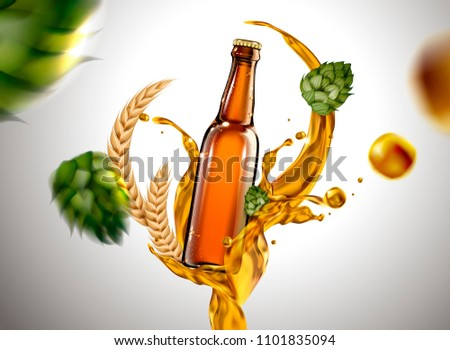 beer glass with liquid and
