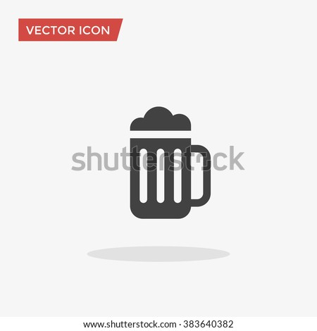 Beer Icon in trendy flat style isolated on grey background. Beer glass symbol for your web site design, logo, app, UI. Vector illustration, EPS10.