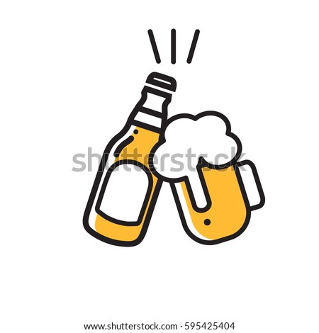 beer icon thin line for web and mobile, modern minimalistic flat design.
