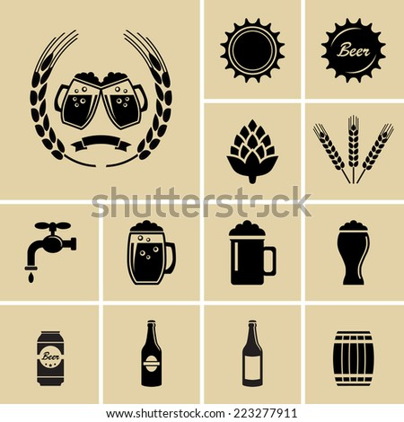 beer icons vector for web