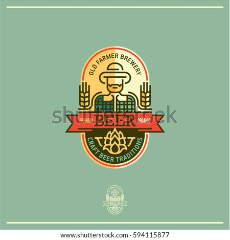 Retro Style Beer Badges And Labels - Download Free Vector Art