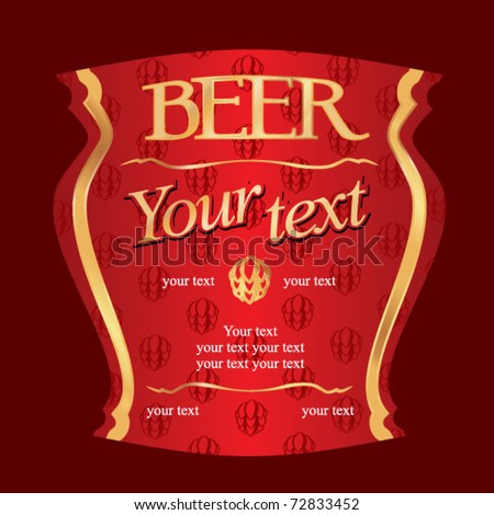 Beer label - red & gold