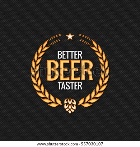Beer Label Reward Logo Design Background