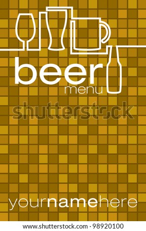 Beer list/menu in vector format.