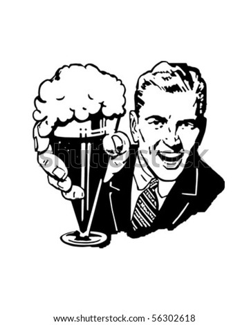 Glass With Vector Images Cliparts Man Frothing And Beer Ale Illustrations Hqvectors com Of