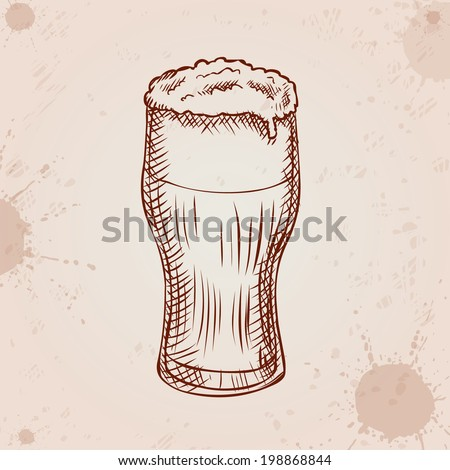 Beer Pencil Drawing Pencil Drawing Style