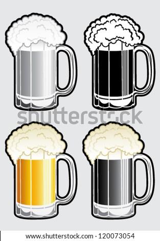 Beer Mug Illustration - stock vector