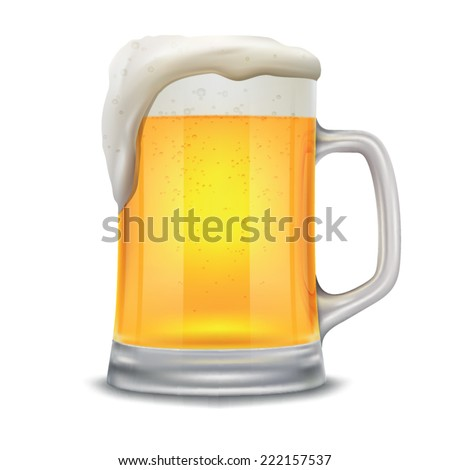 beer mug isolated on a white...