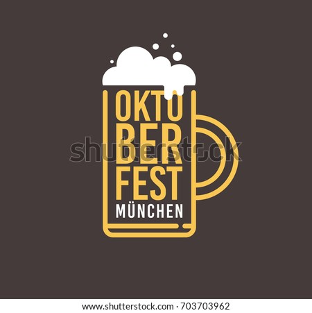 beer mug with foam and name of...