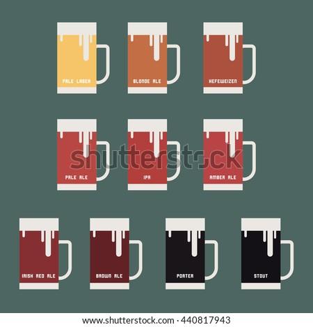beer mugs kinds of beers
