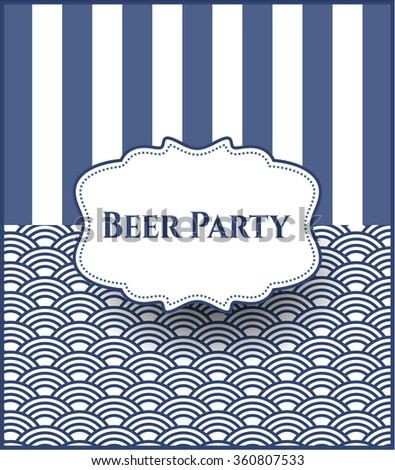 Beer Party card or banner