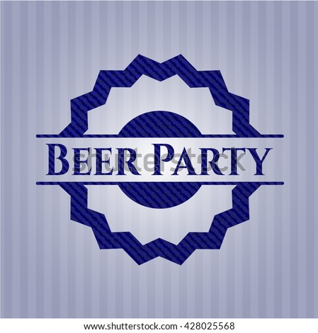 Beer Party denim background