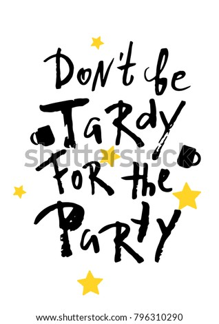 beer party poster don't be