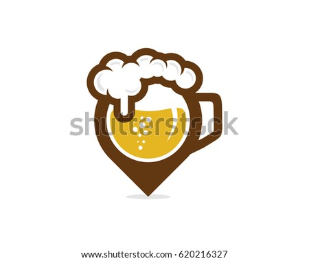 Beer Point Icon Logo Design Element
