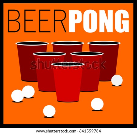 beer pong game with cups and