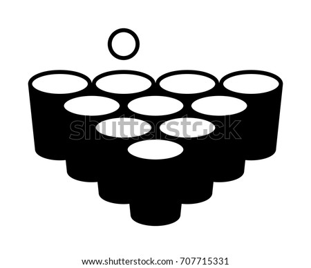 beer pong or drinking game with