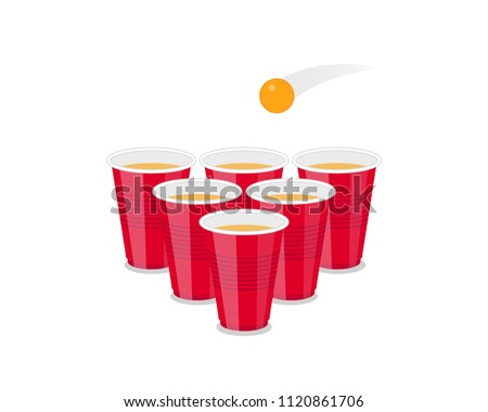 beer pong tournament flyer as