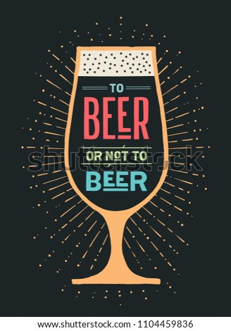 beer poster or banner with