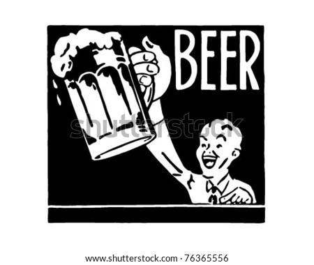 Beer 2 - Retro Ad Art Banner