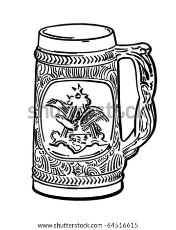 Beer Stein - Retro Clipart Illustration