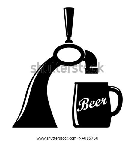 Beer tap.