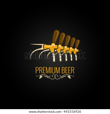 beer tap vintage ornate design background