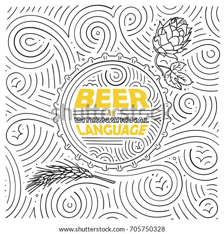 beer theme card design the