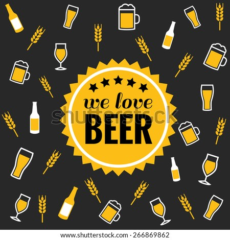beer vector icons background