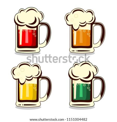 Beer vector label.