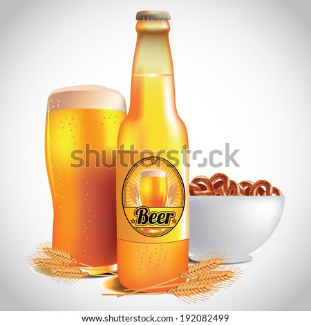 beer  wheat and pretzels eps