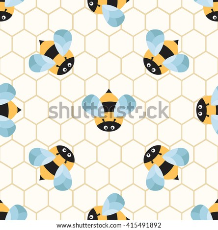 bees on a honeycomb cute