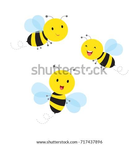 bees vector illustration