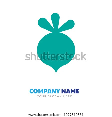 beet company logo design template, Business corporate vector icon