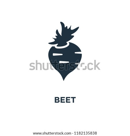 Beet icon. Black filled vector illustration. Beet symbol on white background. Can be used in web and mobile.