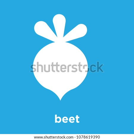 beet icon isolated on blue background, vector illustration