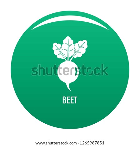 Beet icon. Simple illustration of beet vector icon for any design green