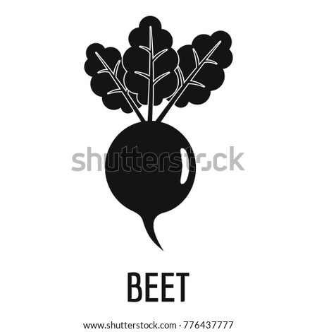 Beet icon. Simple illustration of beet vector icon for web