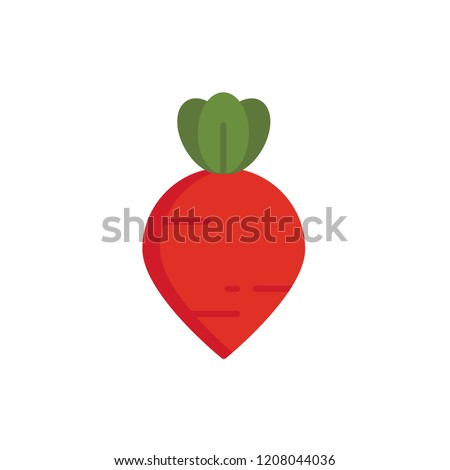beet icon vector. vegetable icon flat style