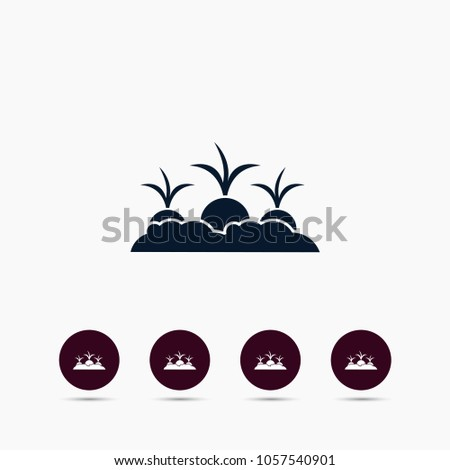 Beet or radish growing icon. Simple gardening element illustration. Vector symbol design from agriculture collection. Can be used in web and mobile.