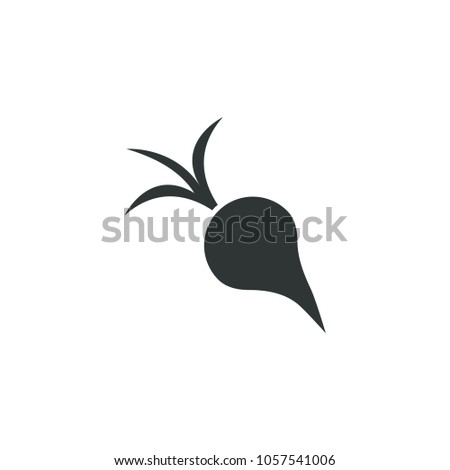 Beet or radish icon. Simple gardening element illustration. Vector symbol design from agriculture collection. Can be used in web and mobile.