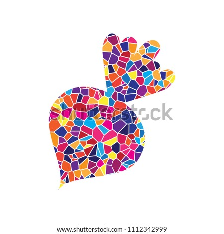 Beet simple sign. Vector. Stained glass icon on white background. Colorful polygons. Isolated.